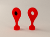 Google Maps Marker - Magnet (with hole) 3d printed Item on the right (v1.0)