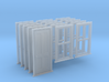 HO Scale Bunkhouse Door And Windows 5 Sets 3d printed
