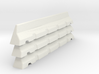 6mm Scale Concrete Road Block X 3 for War Gaming 3d printed