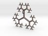 Flat Linear Trivalent Tree Pendant 3d printed Trivalent Tree Pendant