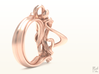 Weaving Ribbons Ring 3d printed Rose Gold