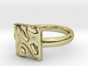 01 Alef Ring 3d printed