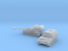 Paladin SP Howitzer and Ammunition Supply Vehicle  3d printed Paladin and its' CAT in 1/700th and 1/600th scales
