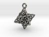 Flower Of Life Star Tetrahedron Pendant 3d printed