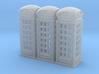 SET 3x Telephone box K2 (N 1:160) 3d printed