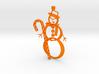 Candy Cane + Snowman ornament 3d printed Snowman