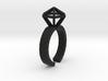 Stereodiamond Ring 3d printed