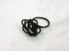 Sprouted Spiral Ring (Size 9) 3d printed Black Strong and Flexible