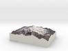 Mt. Elbrus, Russia, 1:100000 Explorer 3d printed