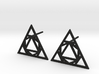 Triangle Stud Earrings 3d printed