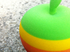 Retro Apple Logo in 3D 3d printed surface detail