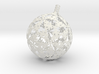 Christmas version of stereographic projection lamp 3d printed