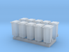 N Scale 10x Household Waste Container (Wheelie Bin 3d printed