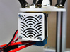 """40mm Fan Guard, """"Seigaiha"""" 3d printed printed by my 3d printer."""
