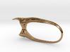 Beetle Horn Wide Ring 3d printed