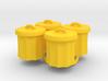 Power Grid Garbage Pails - Set of 4 3d printed
