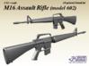 1/12 M16 Assault rifle (modle 602) 3d printed
