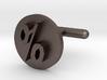 Percentage Symbol Cufflink  3d printed