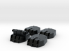 1/144 RN 6 Inch MKXIII Crown Colony Class Turrets  3d printed 1/144 RN 6 Inch MKXIII Crown Colony Class Turrets