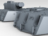1/144 RN 6 Inch MKXIII Crown Colony Class Turrets  3d printed 3d render showing product detail