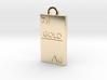 Gold Bar Pendant 3d printed
