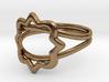 Phi Mu Quatrefoil ring 3d printed