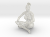 Wireframe Sitting Girl 3d printed