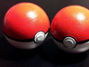 Little Pokeball for belt 3d printed Painted little pokéball
