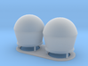 1:144 SatCom Dome Set 2 3d printed