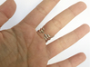 Two Spikes - Sterling Silver Ring 3d printed Polished Solver