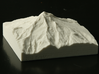 3'' Mt. Hood, Oregon, USA, Sandstone 3d printed Photo of actual print, viewed from the West, looking East.