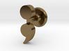 Semicolon Cuff Links 3d printed