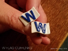 Chicago Cubs W Flag Cufflinks 3d printed