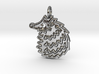 Hedgehog pendant spikey 3d printed