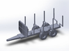 NEW!!! 1:160/N-Scale Forest Trailer  3d printed