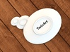 Tea Plate Thinking Buble 3d printed thinking bubbles plate 5