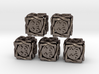 5 × Twined D6 +1/+1 counters (14 mm) Hollow 3d printed