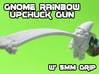 Gnome Rainbow Upchuck-Gun (5mm) 3d printed White strong and flexible print, shown w' primer for visibility.