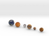 Mercury, Venus, Earth and Moon, Mars, Pluto   3d printed