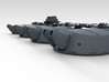 "1/200 HMS Hood Turrets 15"" MKII 22.5º Elev 3d printed Render showing barrel elevation of 22.5º"