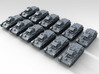 1/285 Scale WW2 Swedish L-60 Tank Set x12 3d printed Render showing product detail