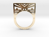 Screaming Warrior ring 3d printed