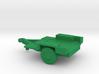1/144 Scale M1011 Humvee Flat Bed Trailer 3d printed