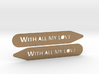 Collar stays: With All My Love 3d printed
