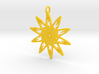 Sunflower Pendant - 46mm 3d printed