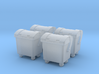 N Scale 4x Waste Container 3d printed