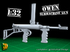 Owengun (1:32) 3d printed Owen submachine gun - 1/32 - 16 guns included