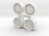 "1/64 Deere 38"" Wheels and Dual rims 3d printed"