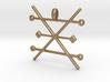 Copper Alchemy Symbol Pendant  3d printed