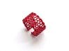 Slim Perforated Honeycomb Ring 3d printed